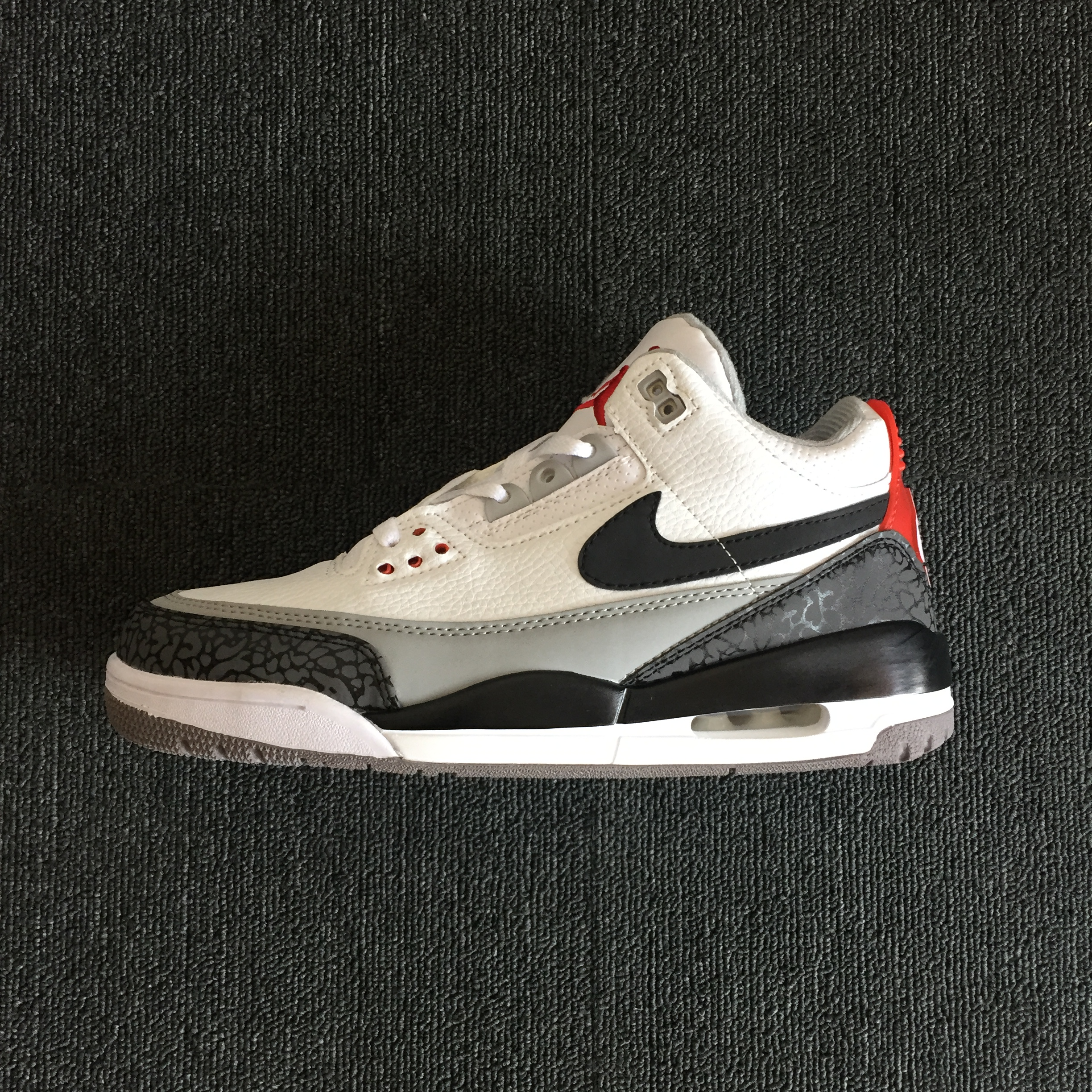 2018 Jordan 3 Retro Tinker AJ3 White Black Grey